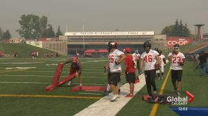 Stamps practice despite air quality warning