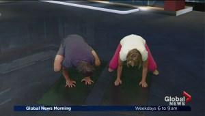 Applying dynamic stretching techniques