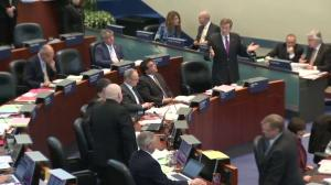 John Tory, Rob Ford have heated debate in Toronto City Hall