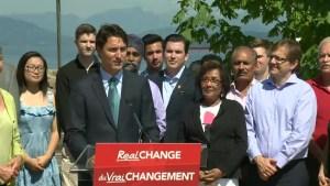 Justin Trudeau unveils Liberal environmental platform
