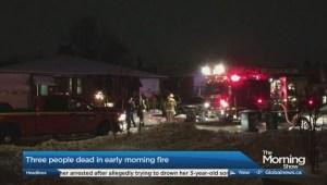 Three people dead in Brampton house fire