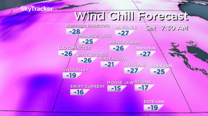 Saskatoon weather outlook: winter returns with snow, -20 wind chills