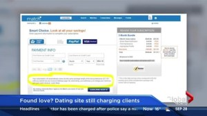 Online dating site still charging clients who have cancelled