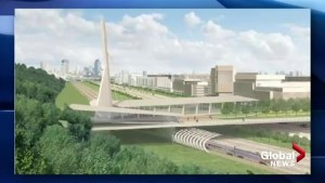 What happened to pedestrian overpass in Turcot project?