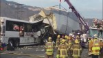 13 dead, 31 injured as tour bus collides with semi on California highway