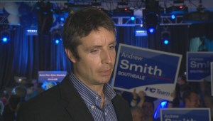 Global News speaks with PC Andrew Smith after being elected in Southdale