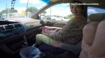 Footage shows woman giving birth in minivan