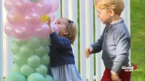 Princess Charlotte and Prince George have some fun with balloons and animals