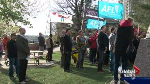Day of Mourning ceremony for construction workers in Edmonton