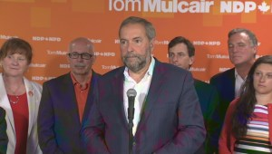 Mulcair comments on what the NDP will do if Canada is in a recession