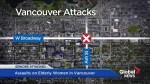 Eldery woman assaulted in two random attacks