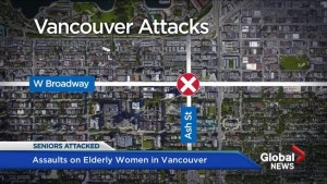 Eldery woman assaulted in two random attacks