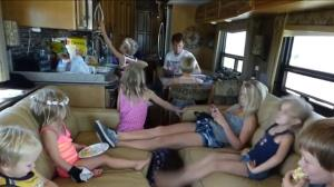 Family of 14 living together in motor home since 2012