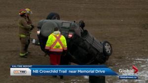 Morning rollover on Crowchild Trail