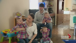 Identical triplets celebrate first year