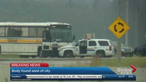 Body found on highway west of Calgary