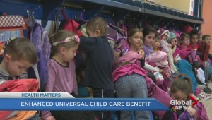 Enhanced universal child care benefit