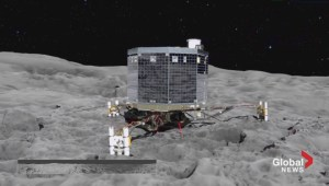 Rosetta mission: landing on a speeding comet
