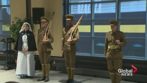 Ceremony in Halifax marks departure of soldiers who fought in the Great War