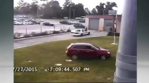 Angry man goes on joy ride in front of Florida jail