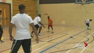 Joel Anthony basketball clinic