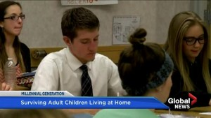 Surviving adult children living at home