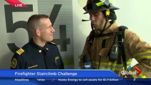 Jordan Witzel completes the Firefighter Stairclimb Challenge