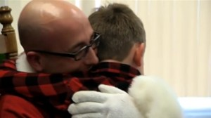 Dad returning from military service surprises son as Santa