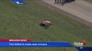 Two killed in crash near Irricana