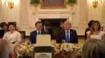 Donald Trump welcomes South Korean president for private dinner at White House