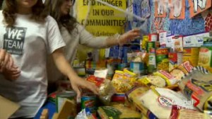 Students at St. Marcellus Catholic School have set a goal to collect 2000 pounds of food for local food banks