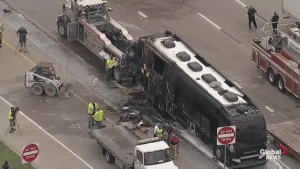 Lady Antebellum tour bus catches fire on Dallas interstate