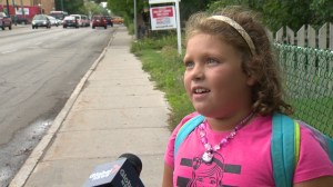 Grade 2 student wants drivers to just slow down