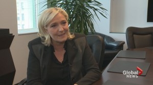 Marine Le Pen speaks out