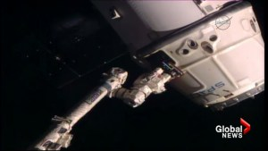 Canadarm2 assists in SpaceX Dragon cargo ship's return to earth
