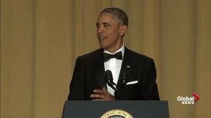 President Barack Obama takes lighthearted jab at Justin Trudeau during White House correspondents' dinner