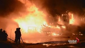 Quebec fire chiefs on L'Isle Verte