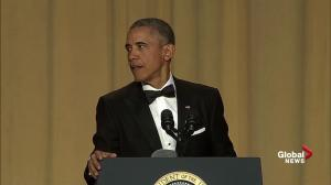 Barack Obama jokes about his approval ratings at White House Correspondents' Dinner