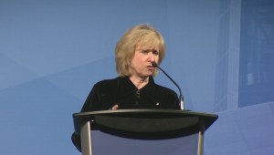 Kim Campbell speaks in Winnipeg on eve of 100th anniversary of women's vote