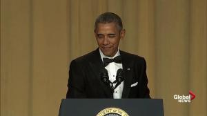 President Obama hammers Donald Trump in final White House correspondents' dinner speech