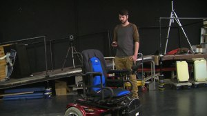 Remote-controlled wheelchair demonstration