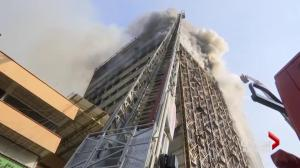 High-rise collapses in Tehran, killing dozens of firefighters