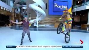 An acrobatic preview of the new Cirque de Solieil show Volta