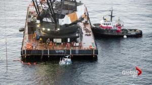 Efforts underway to remove sunken 'Nathan E Stewart' tug from ocean