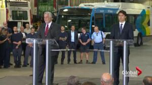 Trudeau, Couillard discuss transit