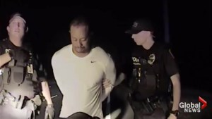 EXTENDED: Dash cam video shows Tiger Woods taking roadside sobriety test, getting arrested