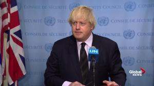 Boris Johnson says U.K. will work with U.S., but will have own system to deal with terror
