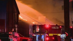 Major fire ripped through Hamilton industrial building