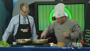 In the Global Edmonton kitchen with Doug Adsit from Morinville's Green Bean Coffee House & Bistro