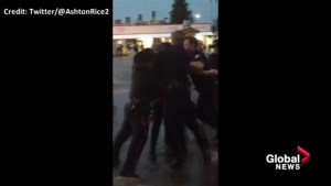 Violent arrest at Calgary Stampede caught on tape